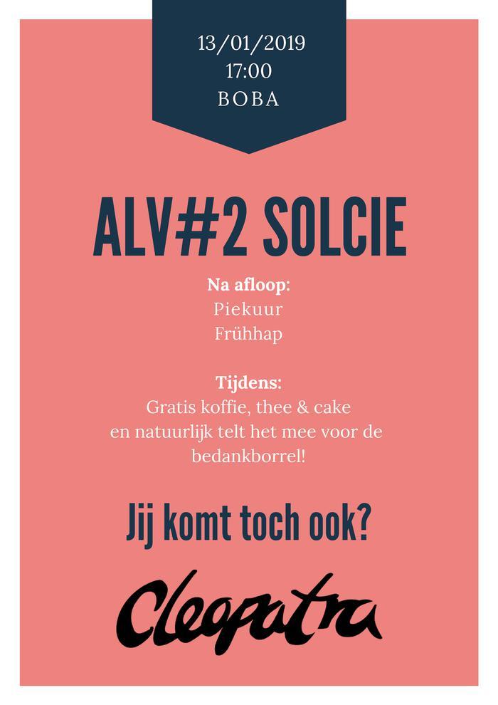 ALV#2 SolCie 13/01/2019
